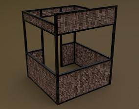 3D asset Stall stand 02 R