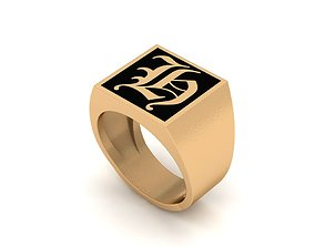 Old English Letter Ring H 3D printable model