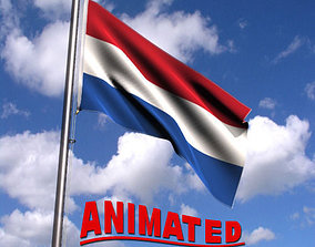 Animated Netherlands Flag 3D