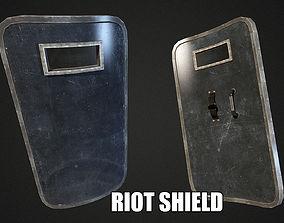 3D asset Riot Shield - Low Poly