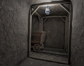 3D model Low Poly Modular Mine Shaft With PBR Materials