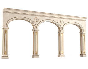 Classic arched opening 3D