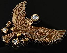 3D print model eagle pendant