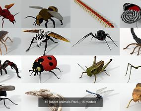 3D model 16 Insect Animals Pack