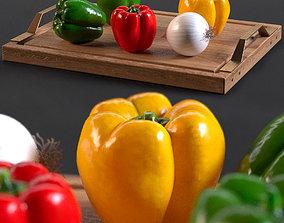 3D model bell Peppers