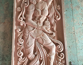 3D Modeling and CNC carving of a Asian Decor Antique 1