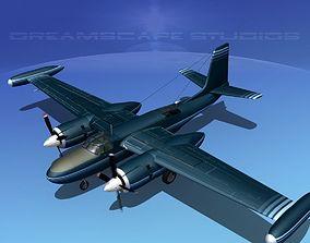 Douglas B-26 Marketeer V07 3D
