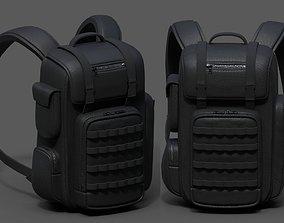 3D asset Backpack Camping bag baggage Black