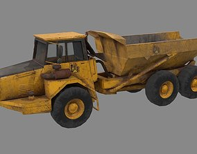 Dump truck low poly 3D asset