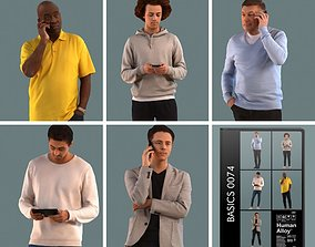 Set of 3D men on the phone