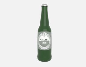 3D model game-ready Beer bottle