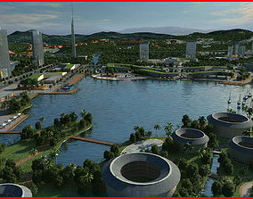 3D model Modern City Animated 055