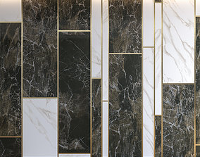 Marble Panel with Parquet 1 headboard 3D