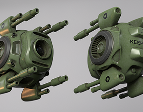 3D asset Sci-Fi army drone