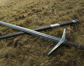 3D model realtime Medieval Sword