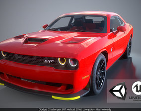 Dodge Challenger SRT Hellcat 2016 PBR GameReady 3D asset