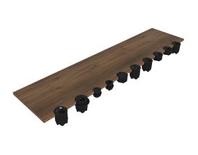 Powerdot Schuko UK-FR-DK - Kondator 3D model