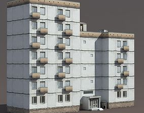 3D asset game-ready life Residential Building