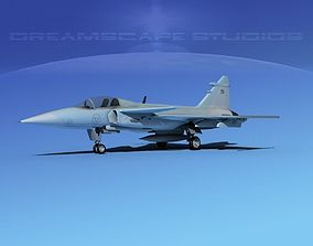 3D model SAAB S39 Fighter Gripen V04
