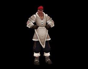 Mongolian Wrestling Hercules 3D asset