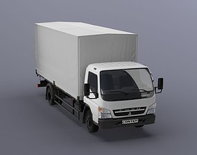 Mitsubishi FUSO Canter with tent body 3D