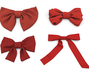 3D model Fabric Bow set