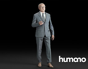 Humano Elegant business man in a suit standing and 3D 1