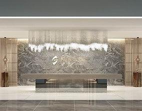 3D model Hotel reception hall design complete 06