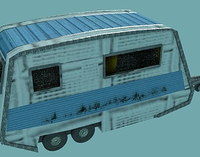 Stylish Caravan 3D model