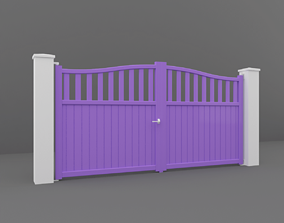 3D model park Outdoor Gate