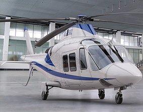 interior Agusta Westland 109 Grand 3D animated