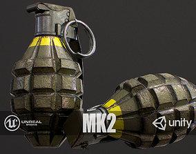 PBR MK2 Grenade 3D model
