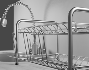 kitchen sink with drainer 3D model