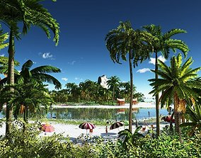 3D Tropical holiday in Vue