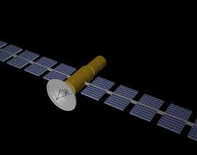 3D asset VR / AR ready Low poly satellite 4