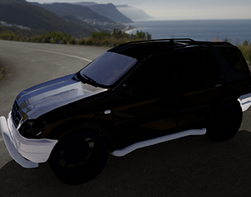 3D asset Mercedes-Benz GLE-Class Land Cruiser Prado