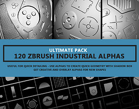 3D model 120 Industrial Zbrush Alphas - ULTIMATE PACK