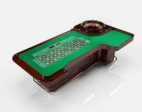 3D roulette table desk round toe