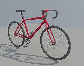 Low Poly Bike 3D model