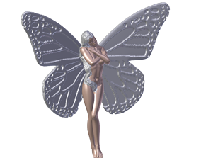 Butterfly Girl Kelebek Kiz Modeli
