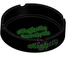 Slightly Stoopid Ashtray 3D print model