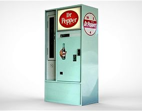 Dr Pepper Soda Machine 3D asset
