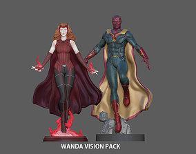 3D printable model WANDA VISION PACK SCARLET WITCH MARVEL