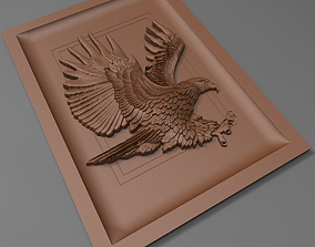 Eagle bas relief for CNC 3D print model