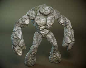 3D model Stone golem PBR