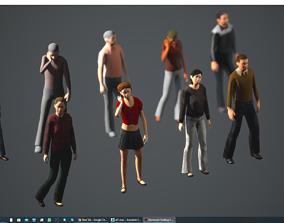 female 3D model Lowpoly People 02