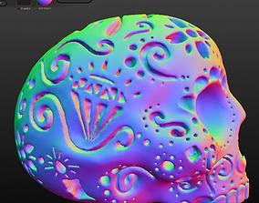 Patterned Skull 3D printable model