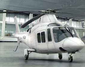 3D Agusta AW 109 Helicopter