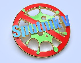 3D print model pin badge of a person vaccinated against 1