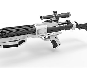 Blaster rifle F-11D with stock from Star Wars 3D model 2